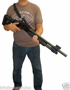Tactical bungee sling for mossberg 500 one point two point sling hunting gear.