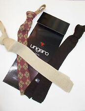 N 3 CRAVATTE  IN  MAGLIA FIRMATA UNGARO moda cravatte  skinnyTIE uomo trend