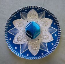 "MEXICAN MARIACHI HAT , CHARRO , SOMBRERO , COSTUME , 22"" ONE SIZE , TURQUOISE"
