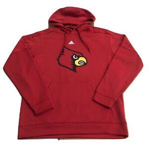 Adidas NCAA Univ. of Louisville Cardinals Logo Hoodie Red/Yellow 111ca