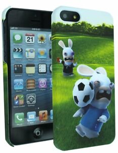 Coque Foot Penalty Lapins Cretins + FILM DE PROTECTION Pour iPHONE 5 - NEUF
