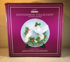 Seymour Mann Connoisseur Collection Christmas Dove 3D Plate