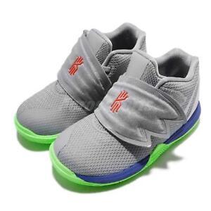 Nike Kyrie 5 TD V Irving Grey Blue Lime Blast TD Toddler Infant Shoes AQ2459-099