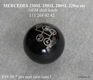 MERCEDES 230SL 250SL 280SL Shift Knob BLACK 4 speed OEM 111 268 02 42 W111 220s