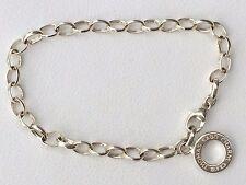 THOMAS SABO Charm Club Belcher Bracelet Solid Sterling Silver 18cm RR$69+