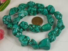 Green /turquoise/matrix  Howlite nuggets/15-20mm(A558-w3.5)