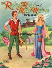 VINTAGE 1958 ROBIN HOOD MAID PAPER Doll HD LASER Repro Hi Qual LO PRICE TOP SE