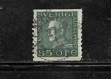 SWEDEN SWEDISH SC#186 1925 OLD VINTAGE 85 ORE USED DEFINITIVE  SINGLE STAMP