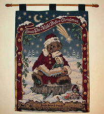 Boyds Bears Twas The Night Before Christmas Tapestry Wall Hanging