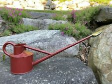 Haws No 2 & 3 Rose Watering Can Red Long Reach Brass Head