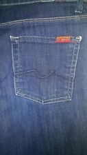 7 For All Mankind Ginger Jeans Womens Dark Wash  Flare Leg Size 30