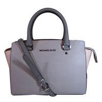 Michael Kors Selma Color Block Medium Satchel, Pearl Grey/Ballet/Steel Grey