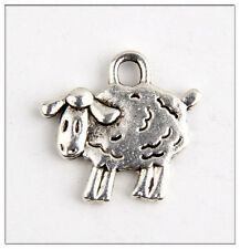 15 Sheep Tibetan Silver Charms Pendants Jewelry Making Findings HN203
