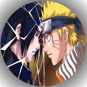 Tortenaufleger Geburtstag Tortenbild Fondant Oblate Naruto Sasuke L43