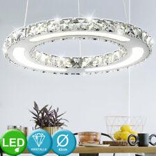 LED Kristall Ring Lüster Decken Hänge Leuchte Kronleuchter Flur Pendel Lampe