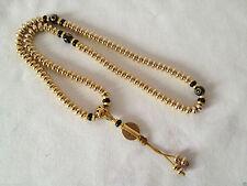 Tibetan Brass Buddhist Prayer Meditation Bead Mala Bracelet + Pouch
