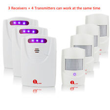 1Byone Pro Driveway Infrared Wireless Alert System Motion Sensor Alarm Door Bell