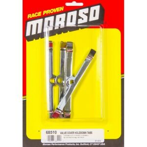 Moroso 68510 Valve Cover Hold-Down Tabs Steel Chrome Plated For Chevy SB NEW