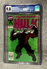 Incredible Hulk #377 CGC 9.8 White Pages Professor Hulk Avengers Thanos STUNNING