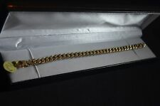 """BN 9ct white and yellow gold unusual curb bracelet 7 3/4"""""""