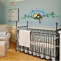 Baby Nursery Bedroom Sweet Dream Monkey Wall Mural DIY Sticker Decal Vinyl Art