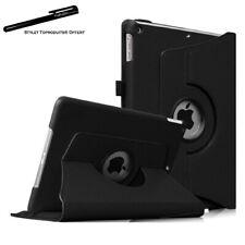 Housse Etui Noir pour Apple iPad 2/3/4 Coque avec Support Rotatif 360°