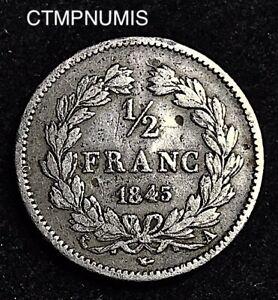 1/2  FRANC   ARGENT   LOUIS PHILIPPE I°   1845 A  PARIS