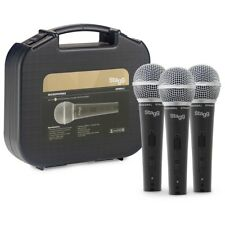 Stagg SDM50-3 Cardioid Dynamic Live Vocal Instrument Microphone 3-Pack