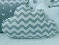 ⭐ Blanco Gris Chevron nube Forma Cojín Almohada Decorativa vivero dormitorio de niños ⭐
