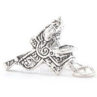 SADDLE Charm Pendant Horse cowboy WESTERN Tack solid Sterling Silver 3D .925 925