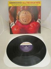 """COMMODORES """"ALL THE GREAT HITS"""" U.S. CRC 12"""" LP Issue MOTOWN 6028 ML NM-  82'"""