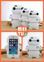 Cute 3D Cartoon BayMax Rubber Silicone Phone Case Cover for iPhone 4s 5s 5c 5 6+