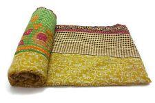 Vintage Kantha Quilt Decorative  Cotton Bedspread Blanket Bedding Throw GF81