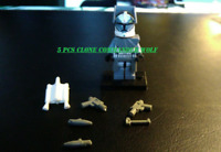 5 Pcs Wolfpack Clone Trooper lego MOC Minifigures Star War Trooper custom Toys