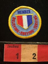 Member Believing Obeying Service Believe Obey Serve Patch ? Christian ? 60C9