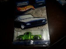 Hot Wheels Cruisin America Green La Troca TRUCK Realrider Wheels LOWRIDERS