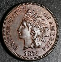 1875 INDIAN HEAD CENT - BU MS UNC - With A TOUCH OF MINT LUSTER!