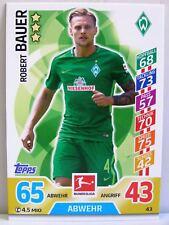 Match Attax 2017/18 Bundesliga - #043 Robert Bauer - SV Werder Bremen