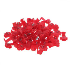 50x Red Scotch Lock Wire Electrical Cable Connectors Quick Splice For 22-18AWG