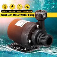 Ultra Quiet 12V 800L/H Mini Lift 5M Brushless Submersible Aquarium Water Pump L