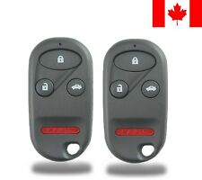 2x New Replacement Keyless Entry Remote Control Key Fob For Honda Accord & Acura