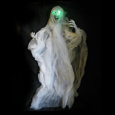 """Spinning Evil Lighted Witch Hanging Halloween Haunted House Prop 42"""""""