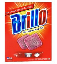 Brillo Steel Wool Soap Pads, Original Scent, (18 Count) Box