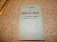 1913.La famille de La Mennais sous l'ancien régime.Christian Marechal
