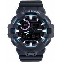 Casio G-Shock GA-700PC-1A Black Blue  Analog Digital Mens Watch GA-700 200M WR