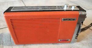 Poste Radio Optalix Ancien Orange