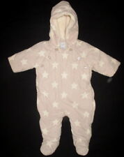 8840fd7d2 Baby Gap Boys 3-6 Months Corduroy Snow Suit 1 Piece Tan & Cream Stars