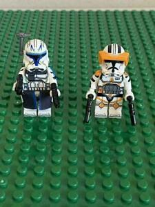 SET OF 2 LEGO MOC Commander Cody and Captain Rex Star Wars Clone Wars