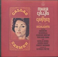 Maria Callas As Carmen Highlights Gedda Prêtre Angel 36312 LP MONO