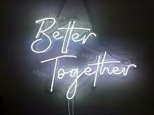 New Better Together Acrylic Neon Sign Light Lamp Room Decor Display With Dimmer